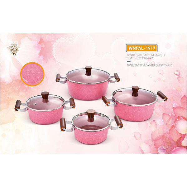 FORGED ALUMINIUM MARBLE COATING  COOKWARE-WNFAL-1917