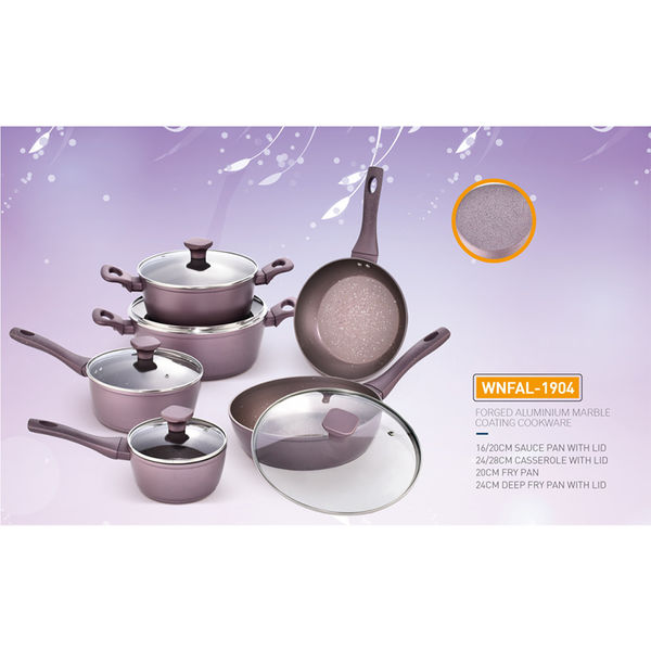 FORGED ALUMINIUM MARBLE COATING  COOKWARE-WNFAL-1904