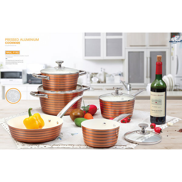 PRESSED ALUMINIUM DOUBLE COLOR COOKWARE-WNAL-P1902