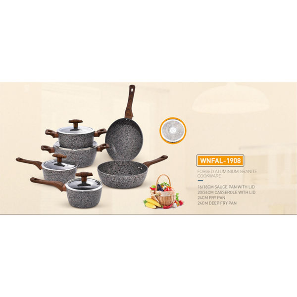 FORGED ALUMINIUM  GRANITE COOKWARE-WNFAL-1908