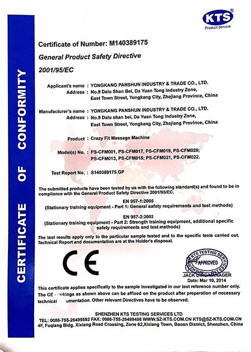 certificate fitness test s95 practice technic