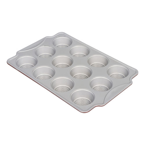 12 CUP MUFFIN PAN WITH  DIAMOND BOTTOM-YL-L46