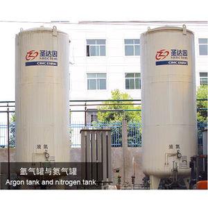 Argon tank and nitrogen tank-