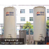 Argon tank and nitrogen tank