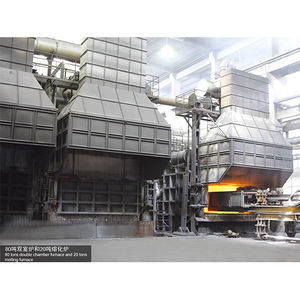 80 tons double chamber furnace and 20 tons melting furnace-