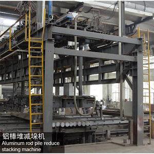 Aluminum rod pile reduce stacking machine-
