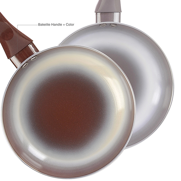 Double color ceramic frying pan-HFR-01