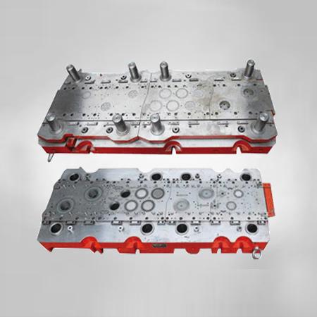 Industrial motor progressive die-