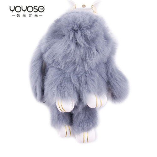 YOYOSO Crystal Plush Rabbit Key Ring-