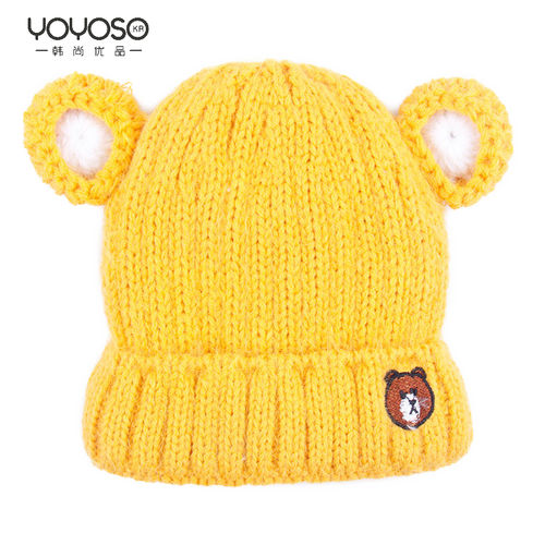 YOYOSO Bear Ear Warm Hat-