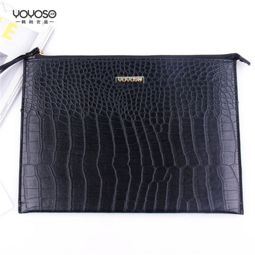 YOYOSO corocodile Strip Hand Bag -