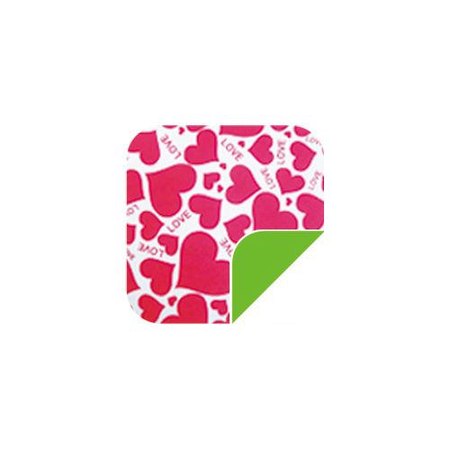 P041Lovely Pink Heart/Green-P041Lovely Pink Heart/Green
