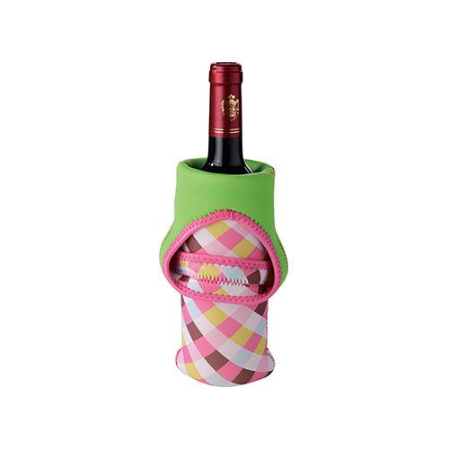 Heart-Shaped Handle Single-Bottle Wine Tote-FR-W001B