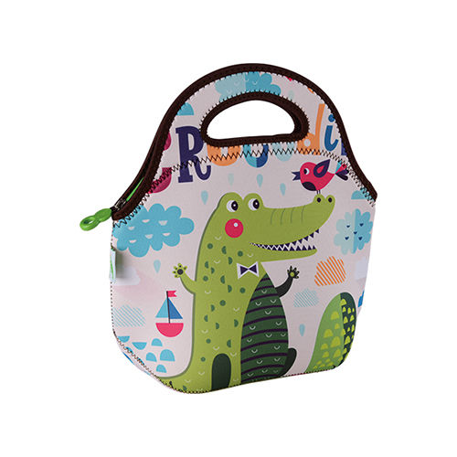 Freeman Gourmet Getaway Neoprene Lunch Tote: Cute Crocodile-FR-W010