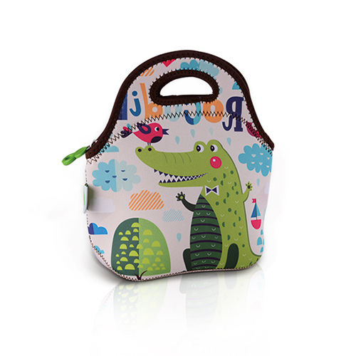 Freeman Gourmet Getaway Neoprene Kids Lunch Tote: Cute Crocodile-FR-W015